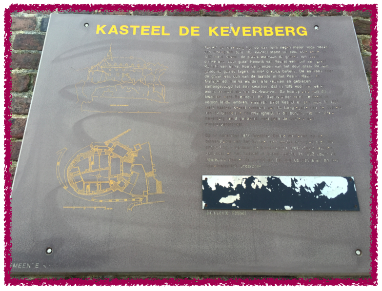 plaque kasteel de Keverberg