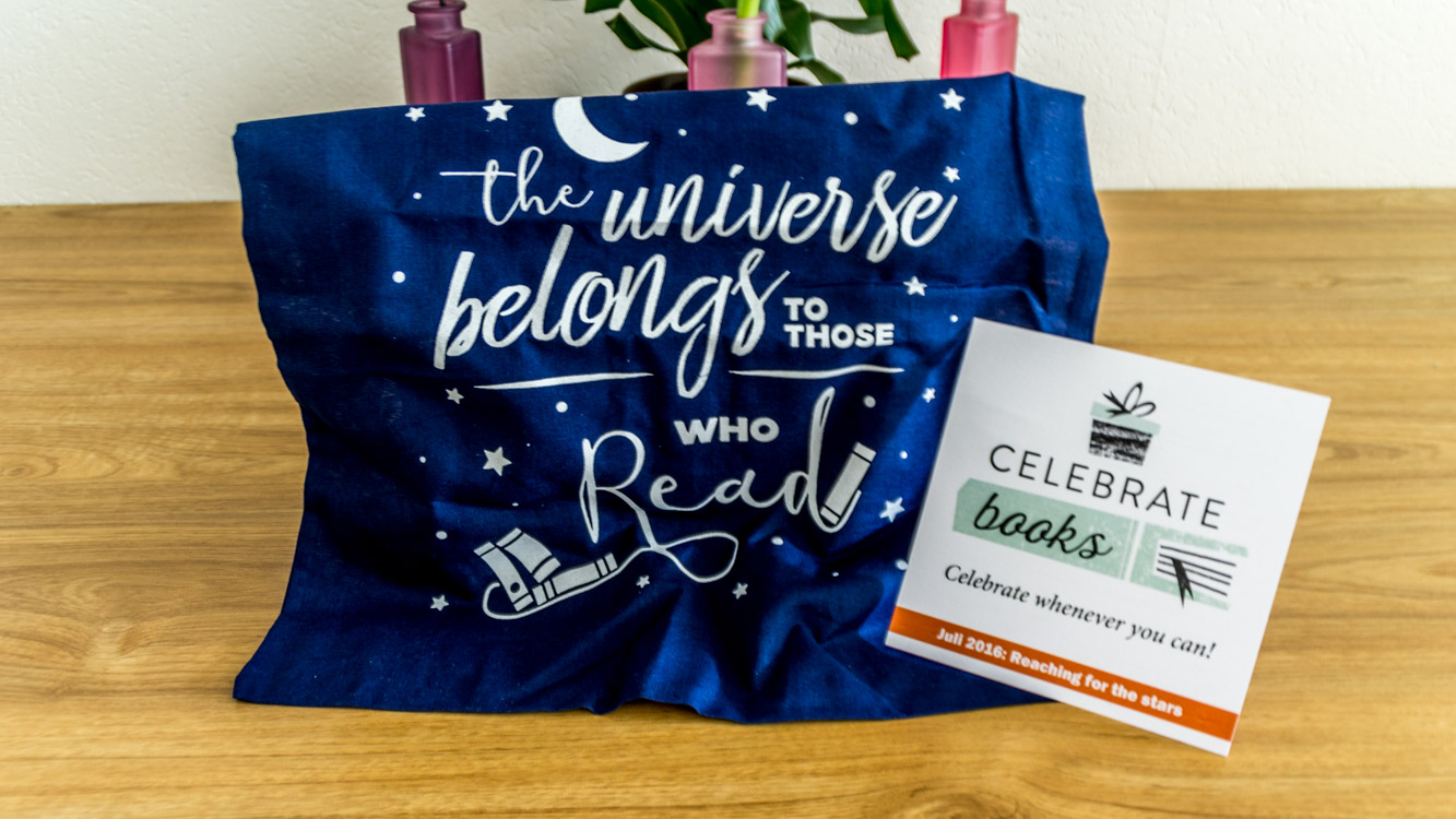 Tas uit de Celebrate Books box juli 2016
